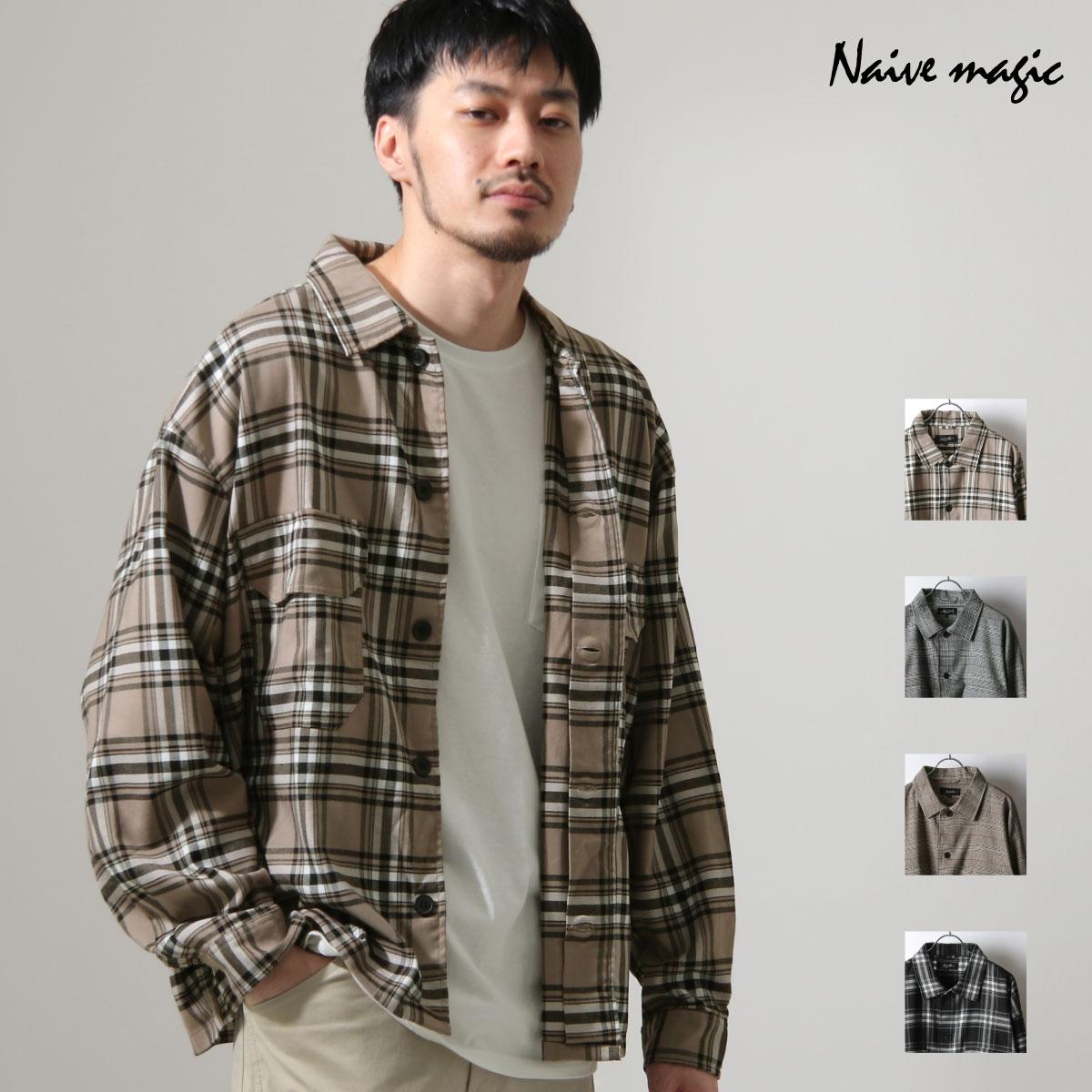ZIP 格紋長袖襯衫 口袋設計 0