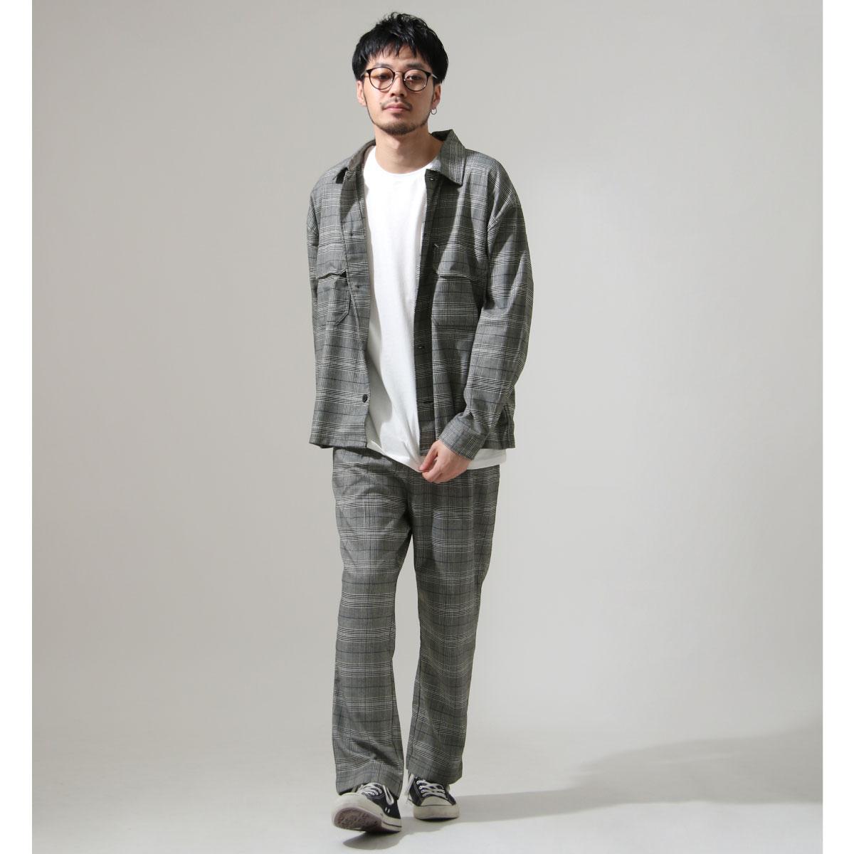 ZIP 格紋長袖襯衫 口袋設計 5