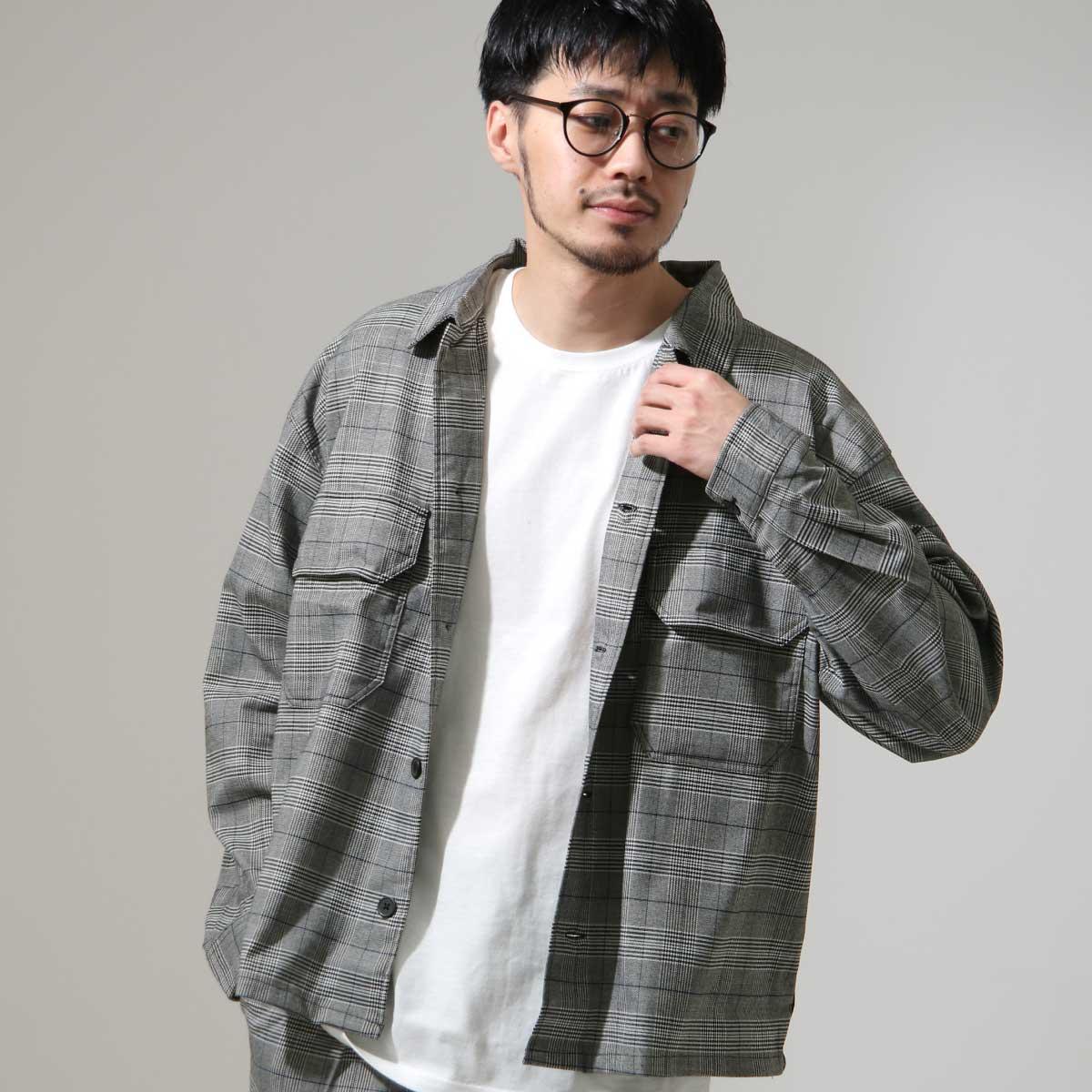 ZIP 格紋長袖襯衫 口袋設計 6