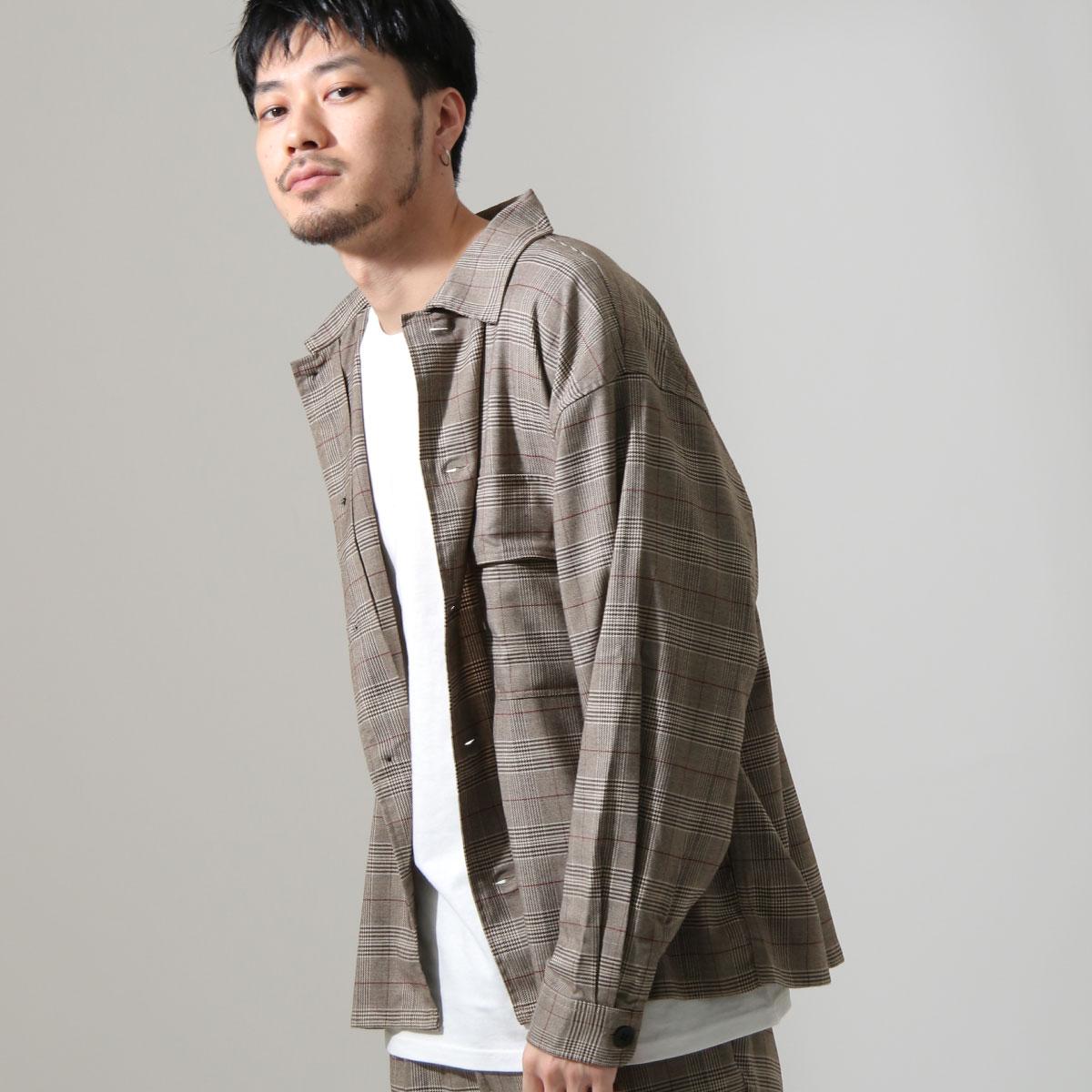 ZIP 格紋長袖襯衫 口袋設計 8