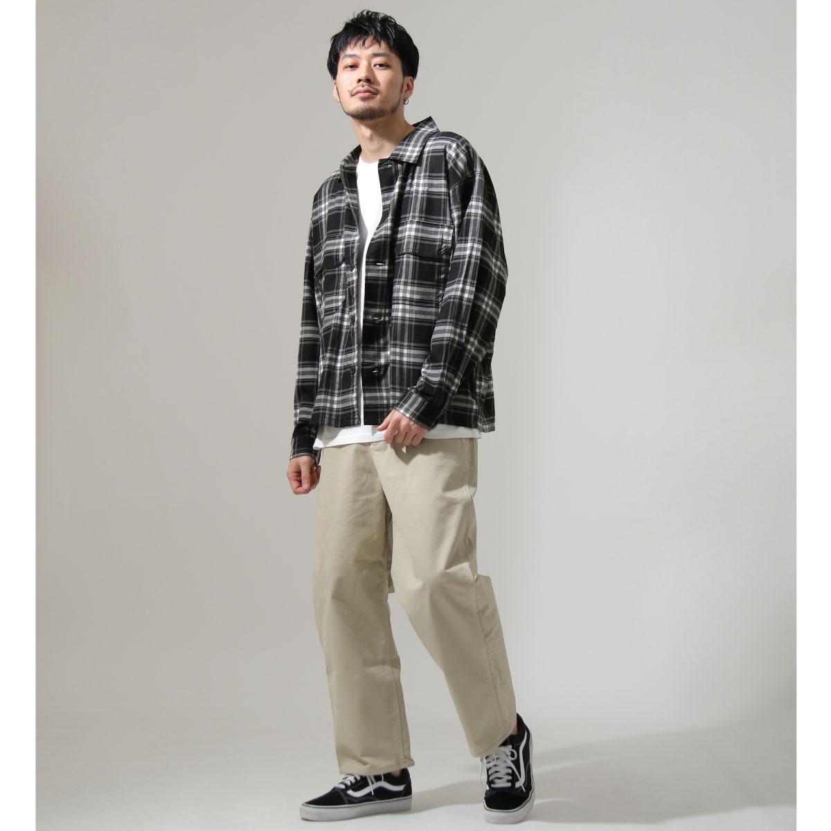 ZIP 格紋長袖襯衫 口袋設計 7