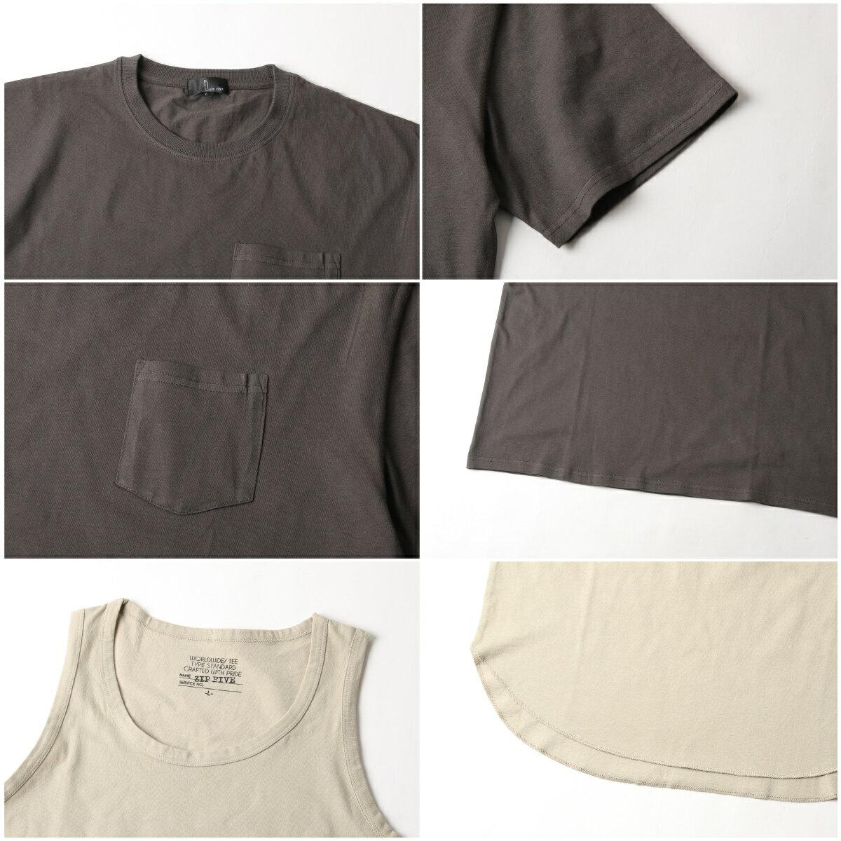 【New】五分袖T恤&長版坦克背心 兩件組 3