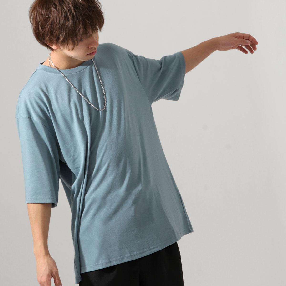 【ZIP】五分袖T恤 寬版 1