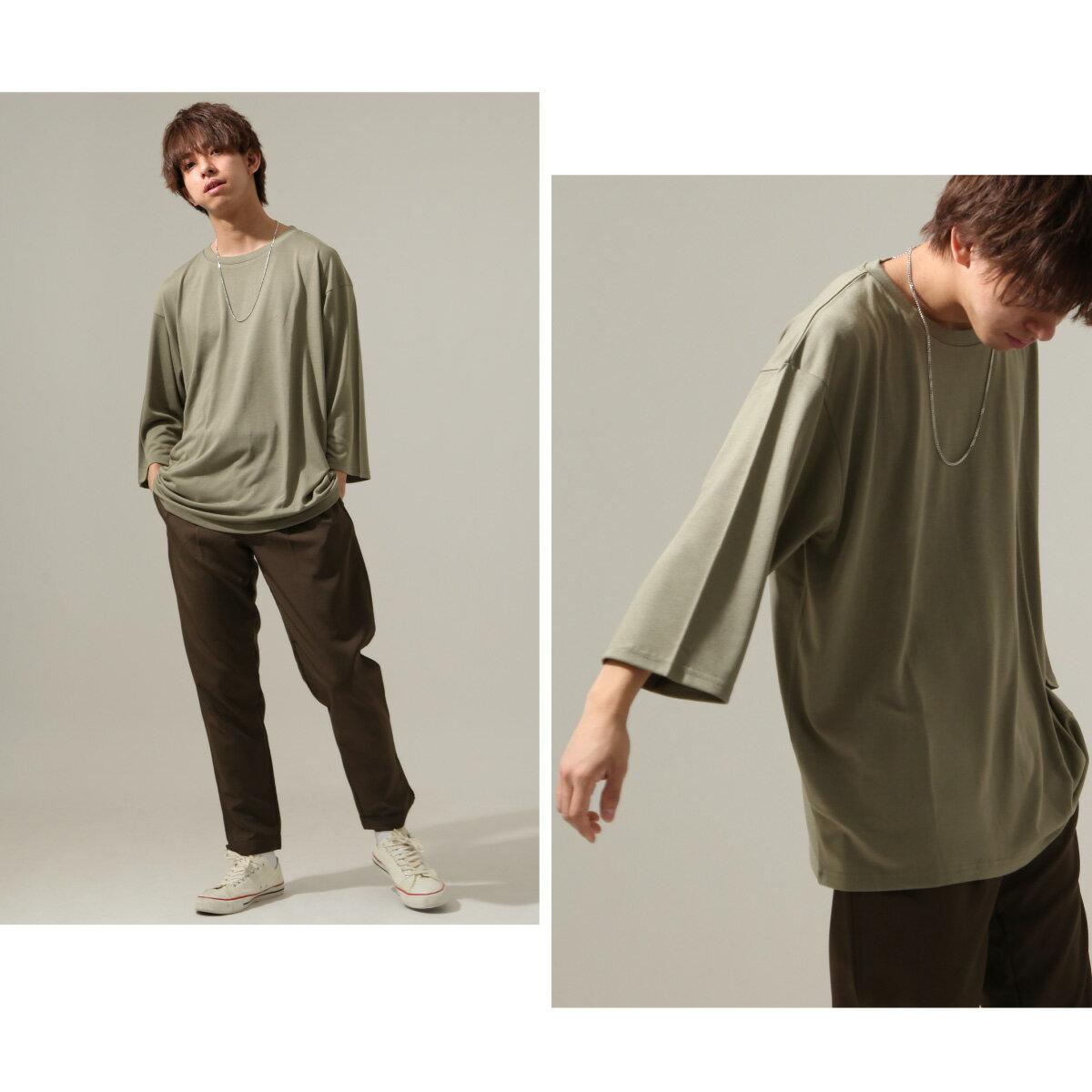 【New】ZIP 七分袖T恤 寬版 6