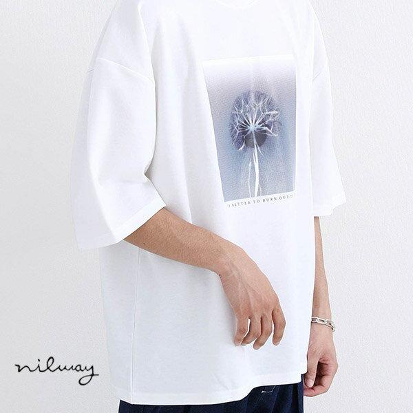 【Nilway】藝術印刷TEE 寬版 0