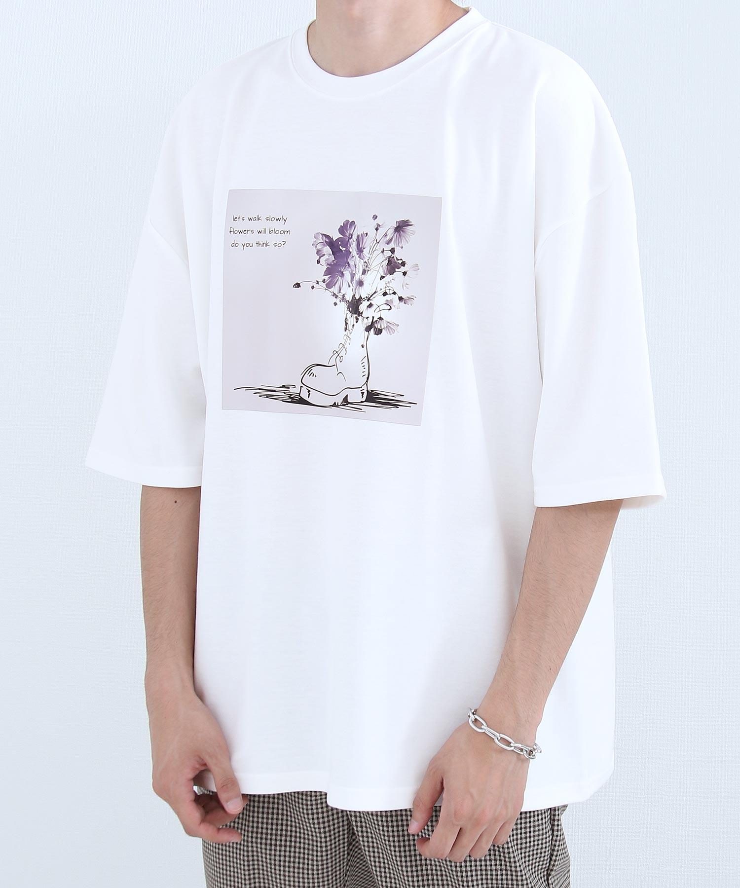 【Nilway】花藝插圖OVERSIZET恤 日系 寬版 2