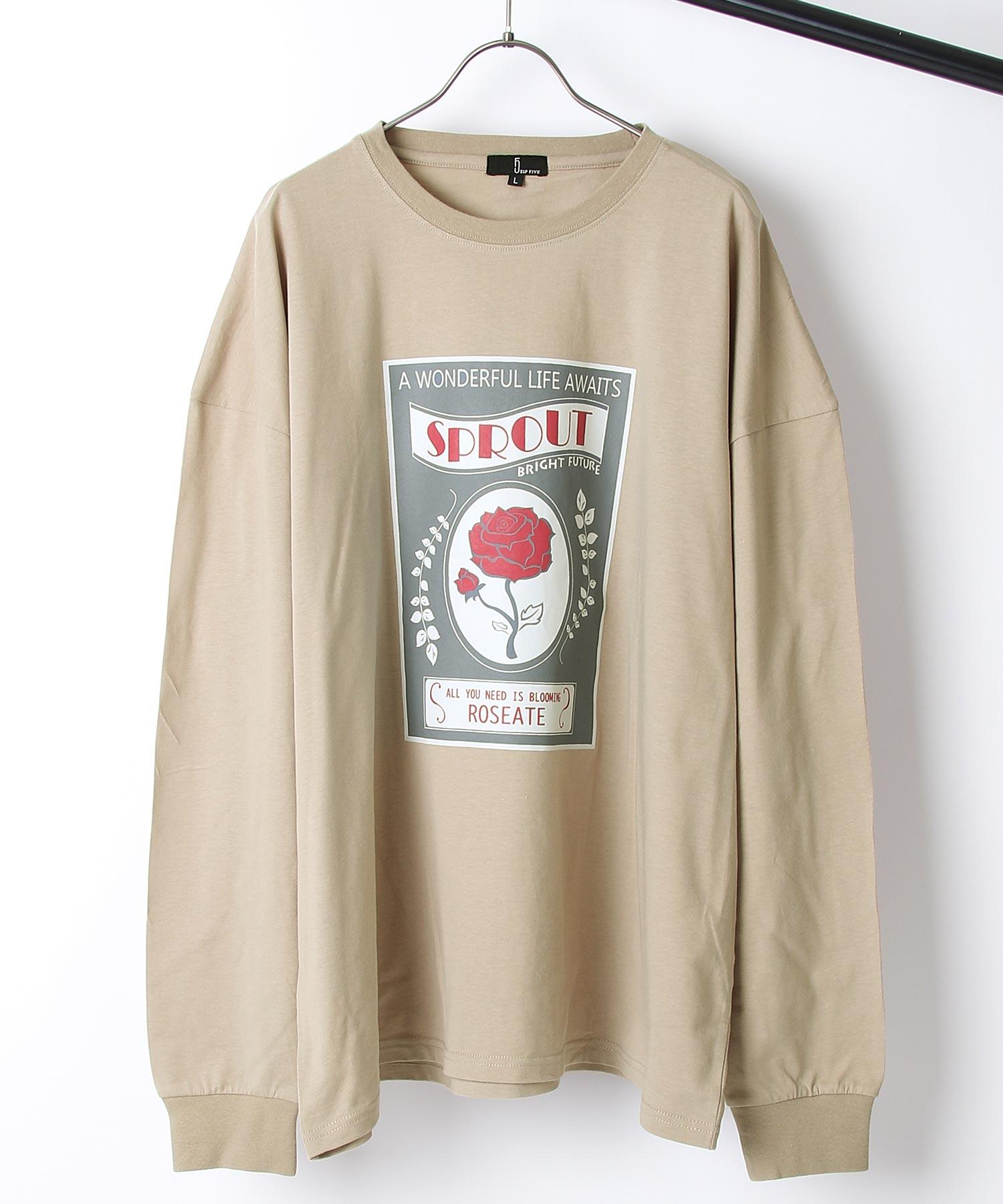 【ZIP】背面印刷長袖T恤 寬版 3