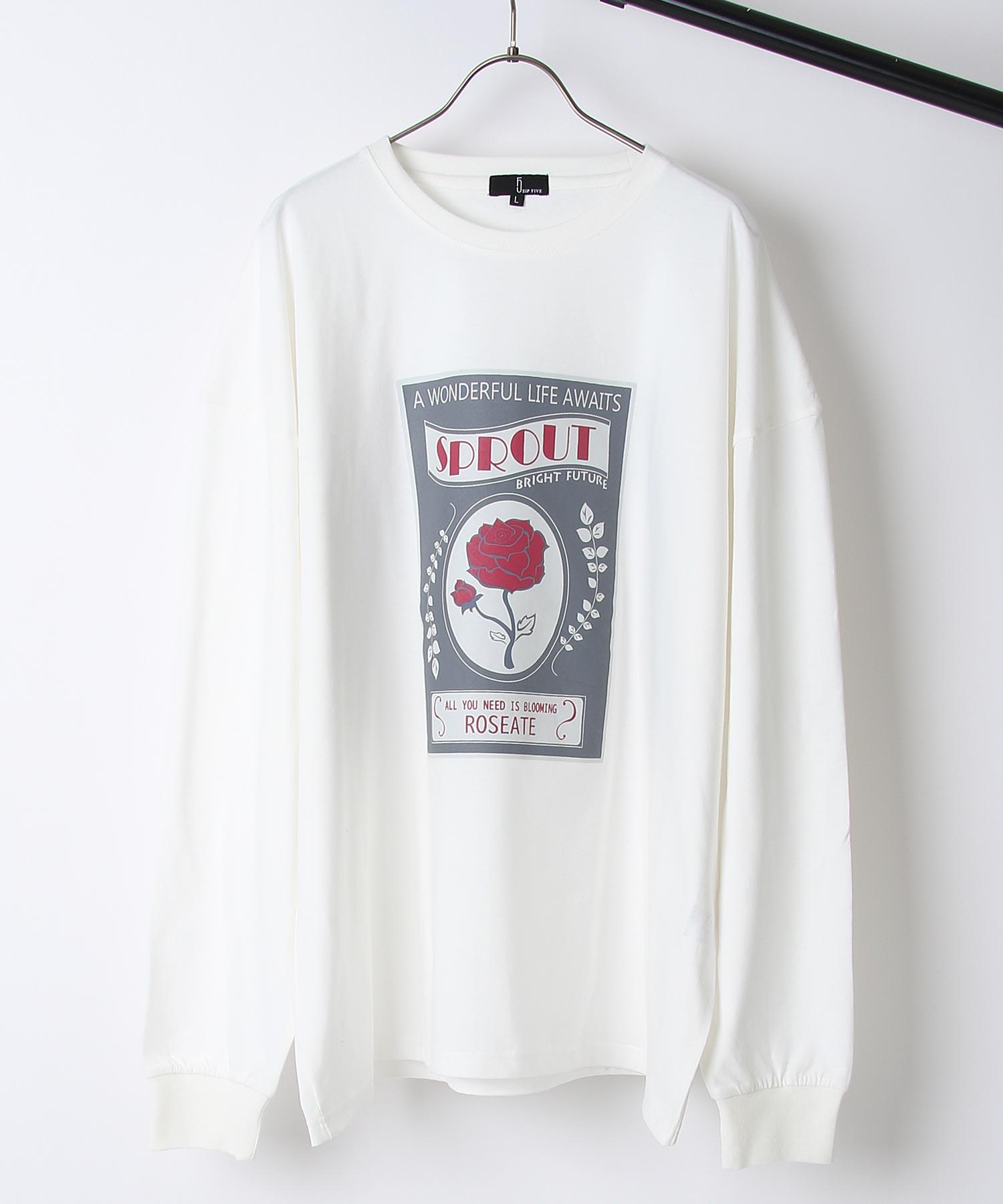 【ZIP】背面印刷長袖T恤 寬版 4