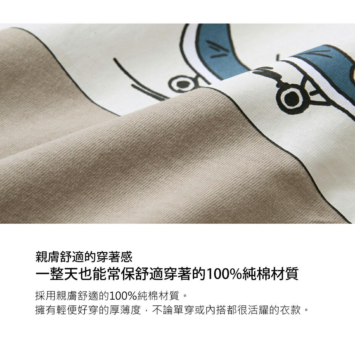 【ZIP】背面印刷長袖T恤 寬版 7