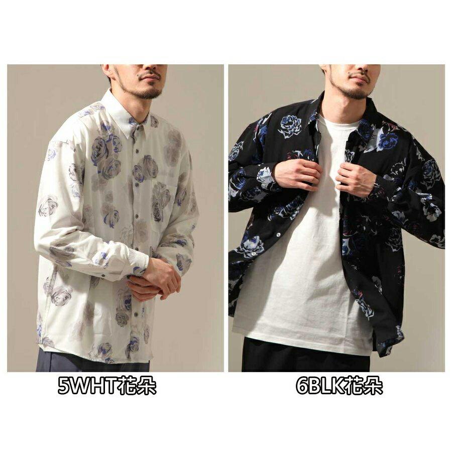 【New】ZIP 寬版長袖襯衫 花朵設計 2