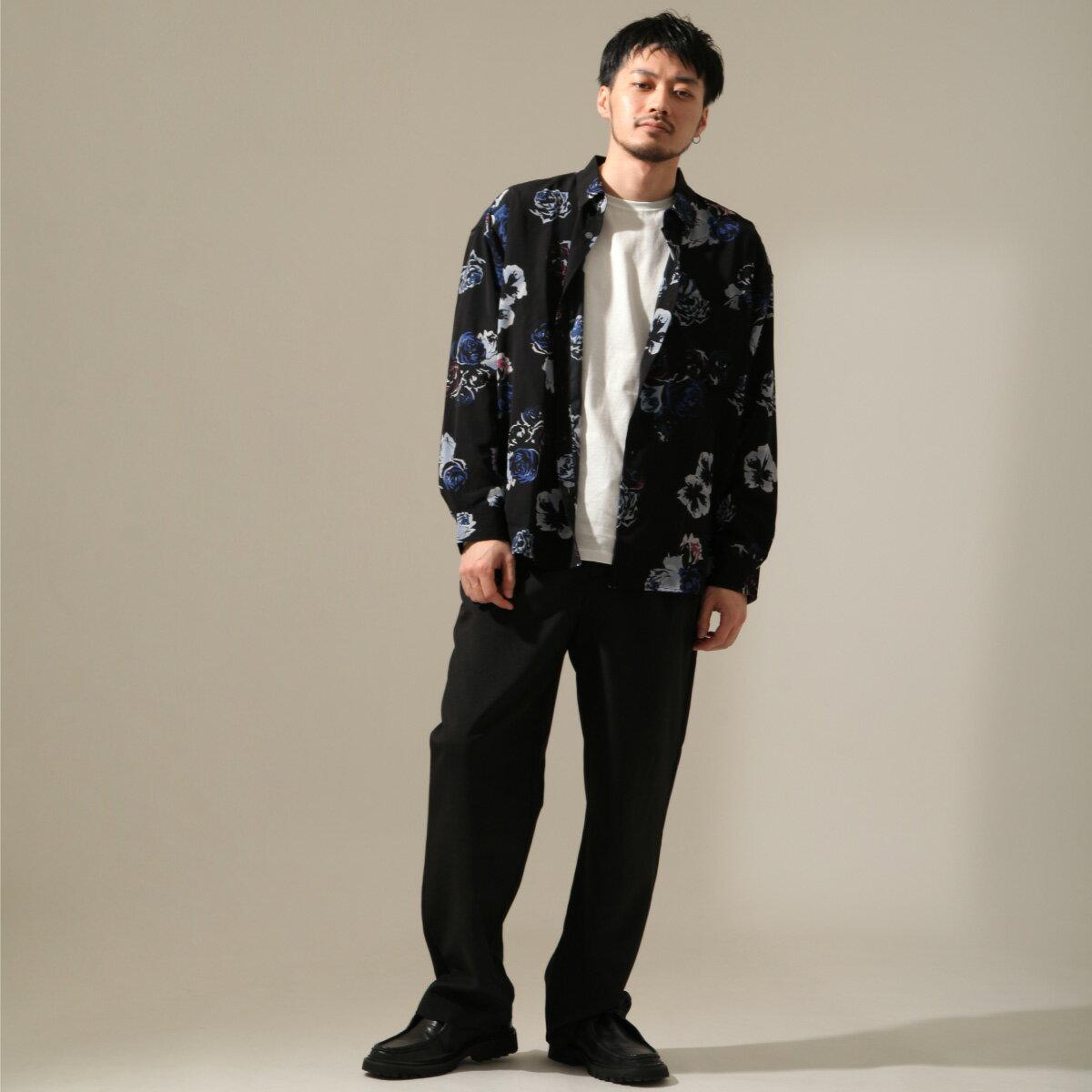 【New】ZIP 寬版長袖襯衫 花朵設計 6