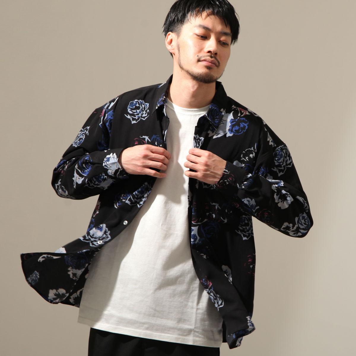 【New】ZIP 寬版長袖襯衫 花朵設計 7