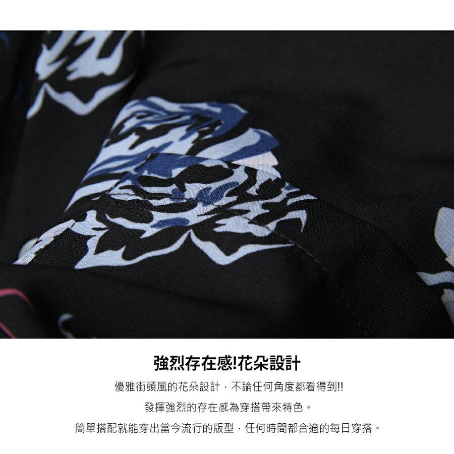 【New】ZIP 寬版長袖襯衫 花朵設計 8