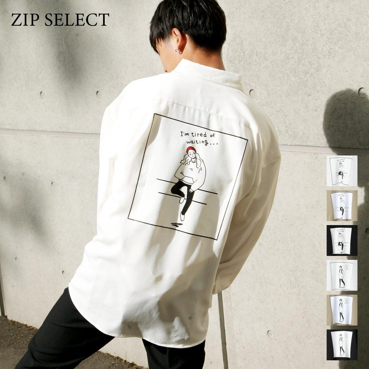 ZIP Select 背後插圖長袖BIG襯衫 7