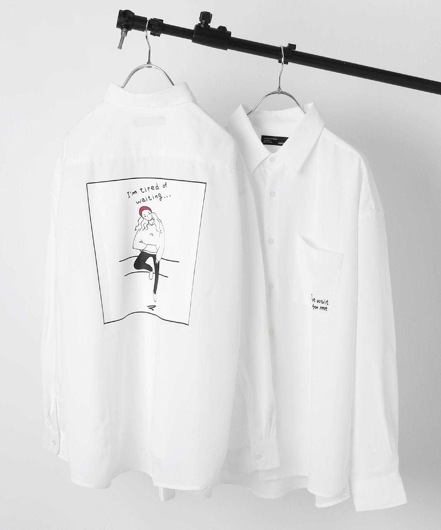 ZIP Select 背後插圖長袖BIG襯衫 4