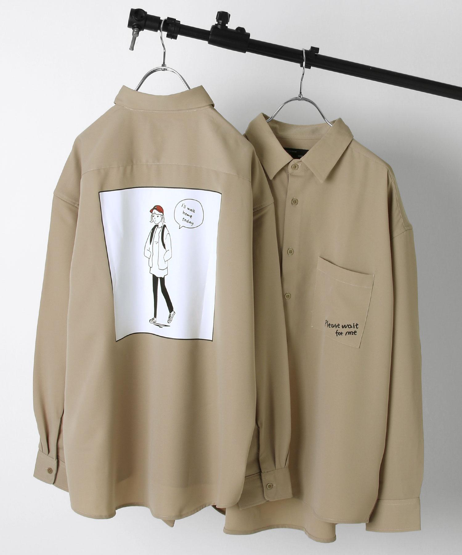 ZIP Select 背後插圖長袖BIG襯衫 5