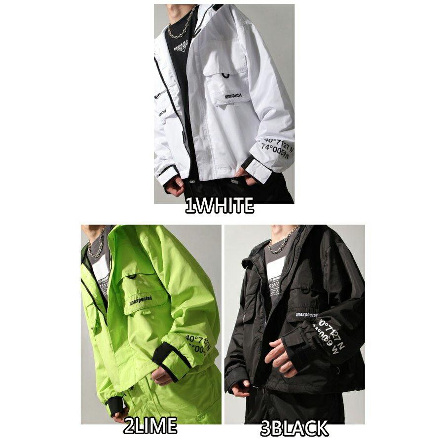 【New】ZIP寬版登山外套 螢光 大口袋 1
