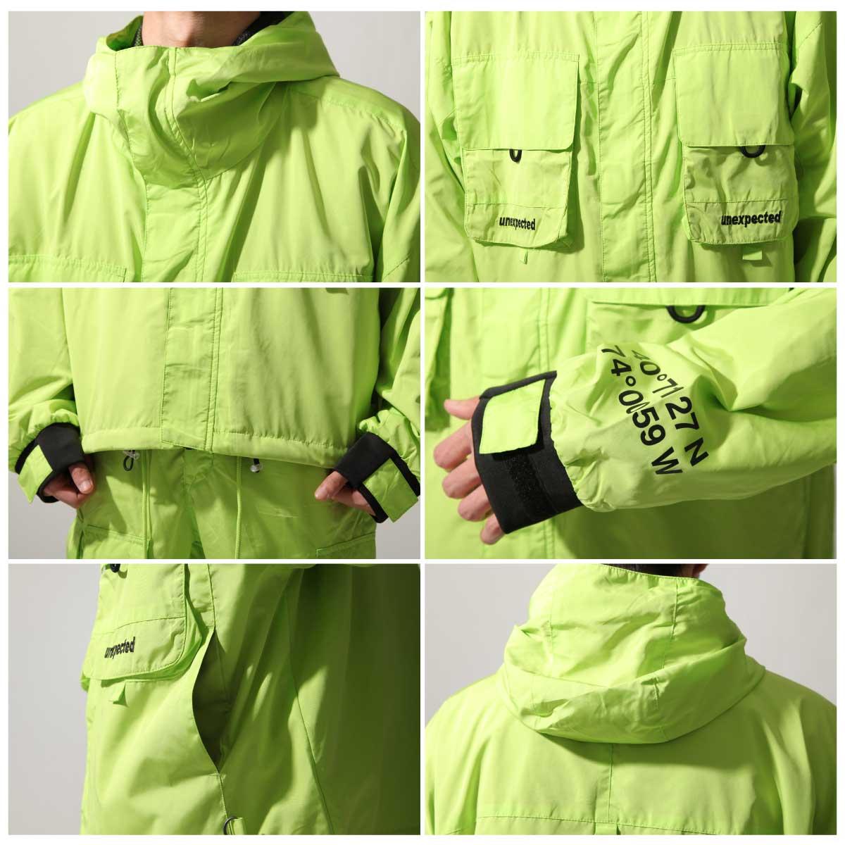 【New】ZIP寬版登山外套 螢光 大口袋 2