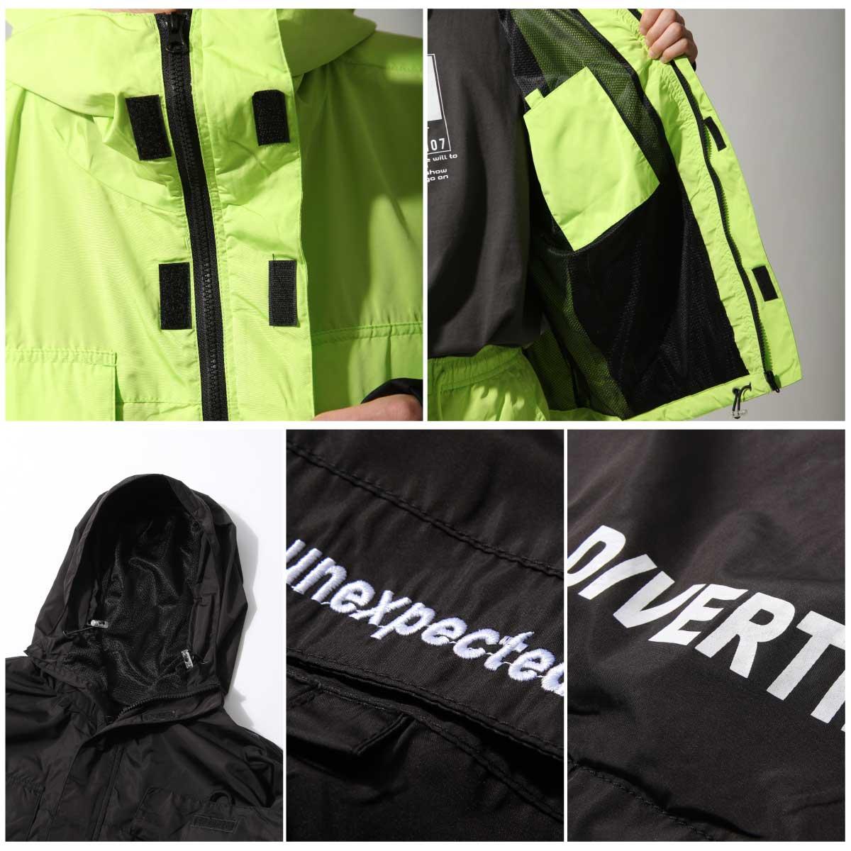 【New】ZIP寬版登山外套 螢光 大口袋 4