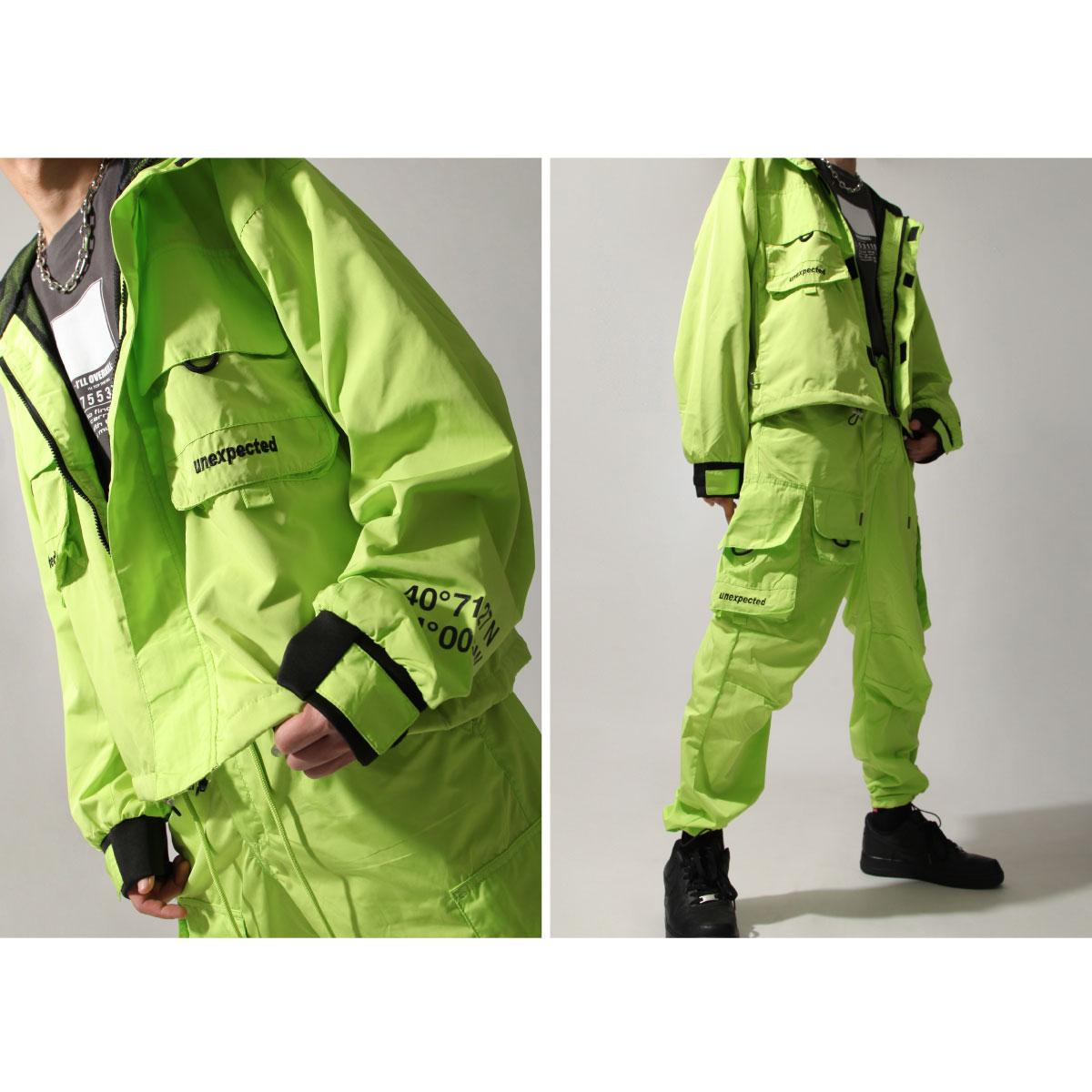 【New】ZIP寬版登山外套 螢光 大口袋 6