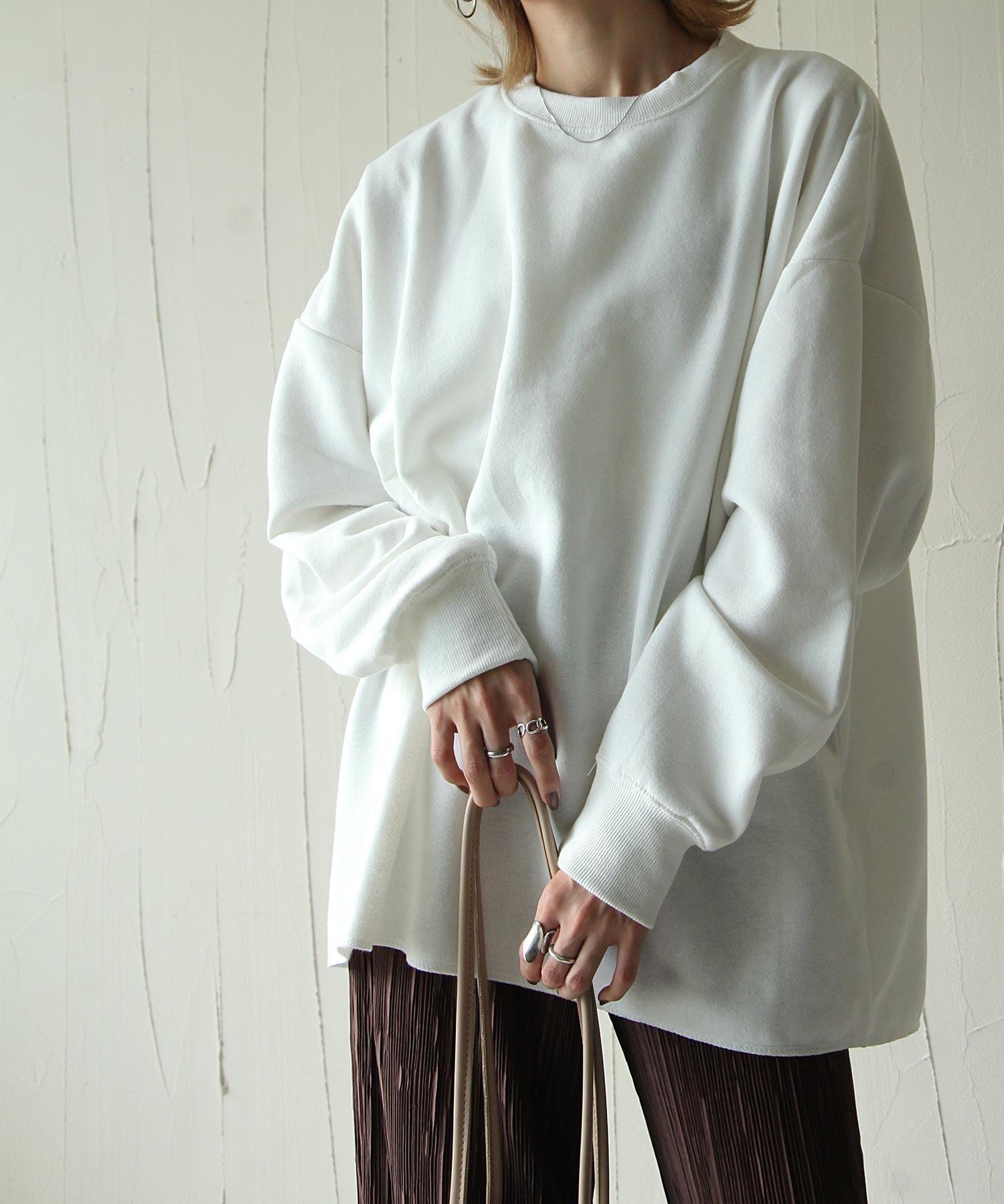 【Chillfar】內刷毛後衣襬開岔運動衫 寬版 OVERSIZE 4