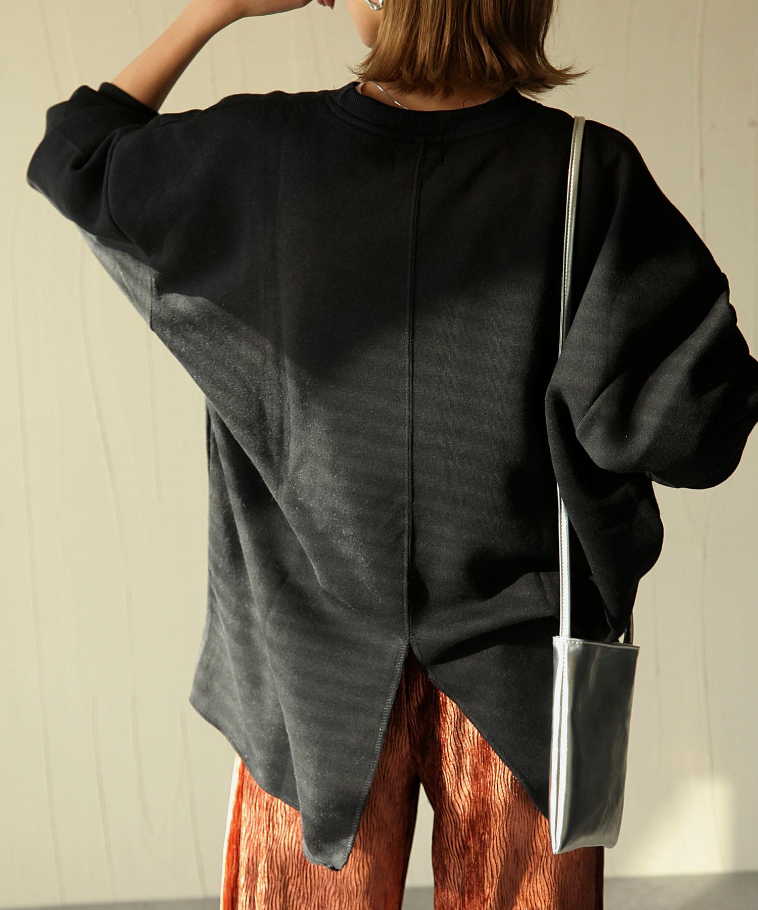 【Chillfar】內刷毛後衣襬開岔運動衫 寬版 OVERSIZE 3