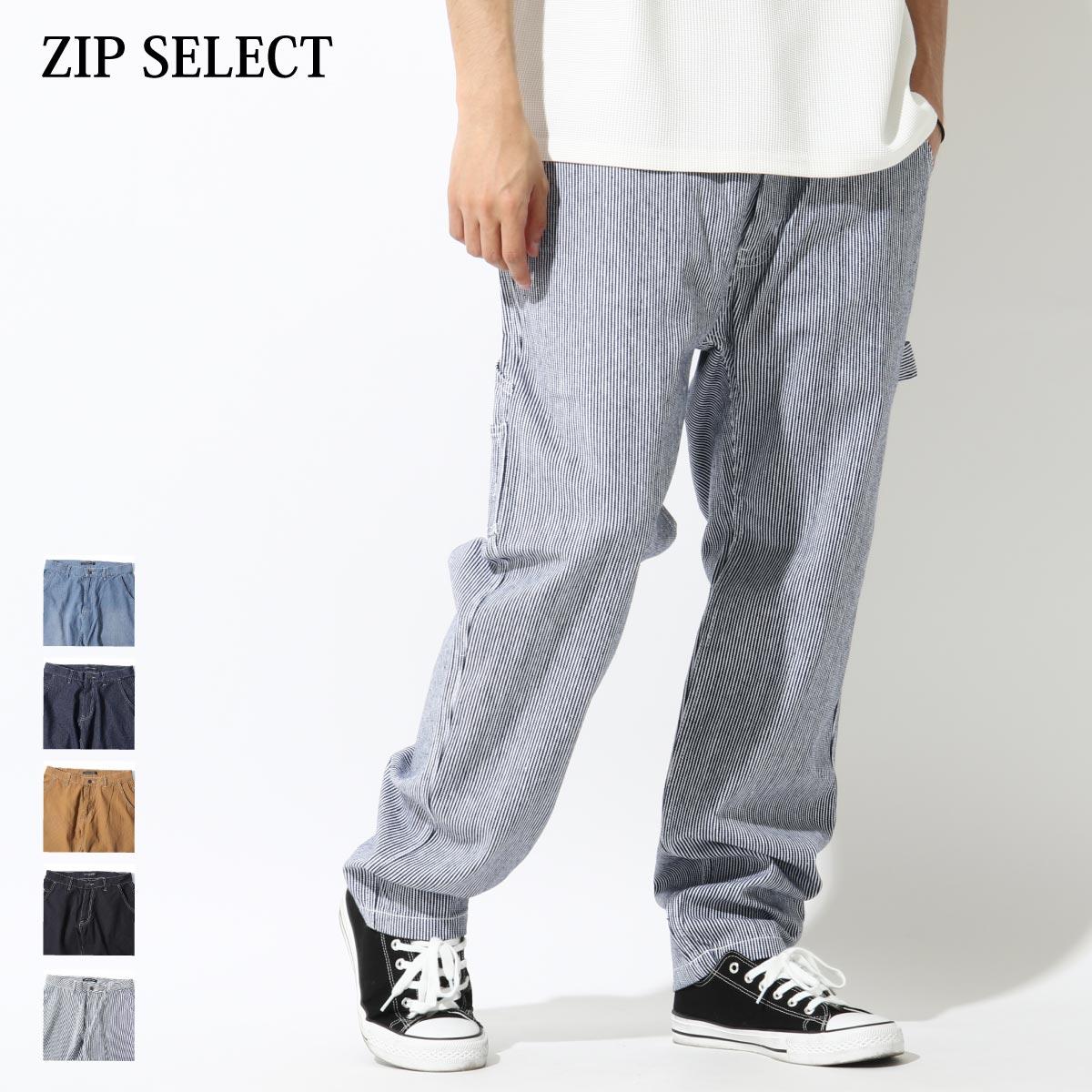 【New】ZIP 縫線工作褲 寬褲 0