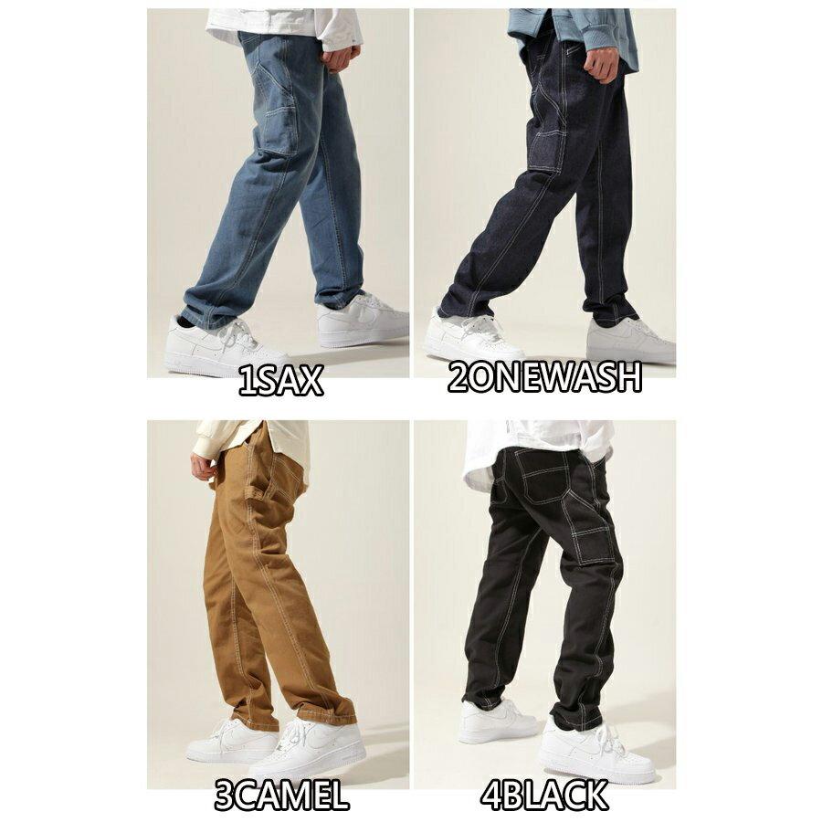 【New】ZIP 縫線工作褲 寬褲 1