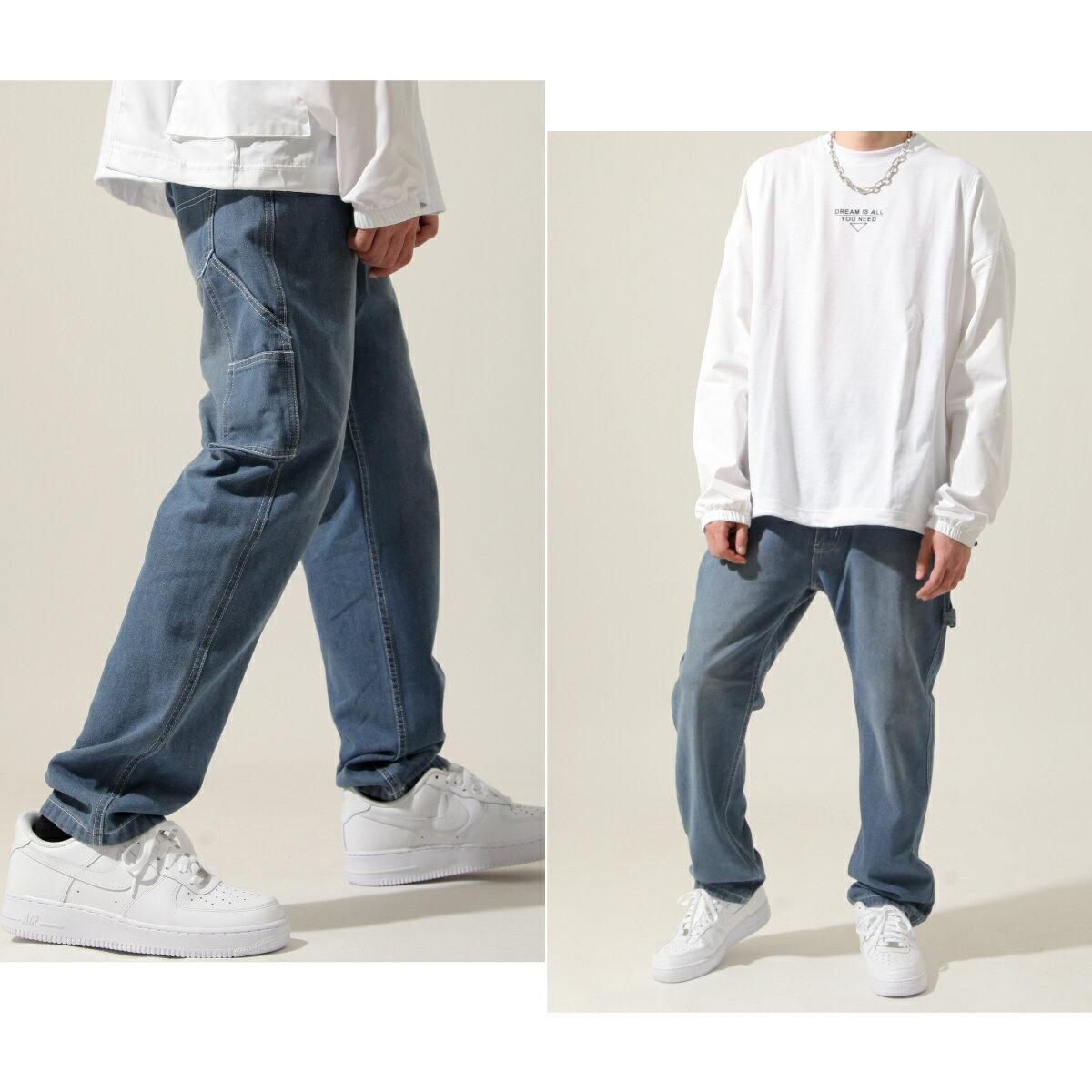 【New】ZIP 縫線工作褲 寬褲 3