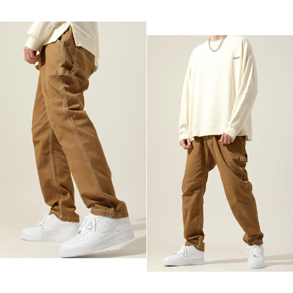 【New】ZIP 縫線工作褲 寬褲 5