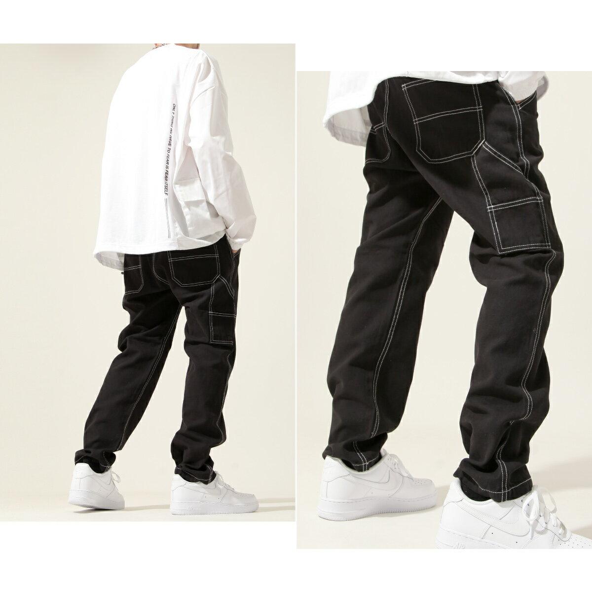 【New】ZIP 縫線工作褲 寬褲 6