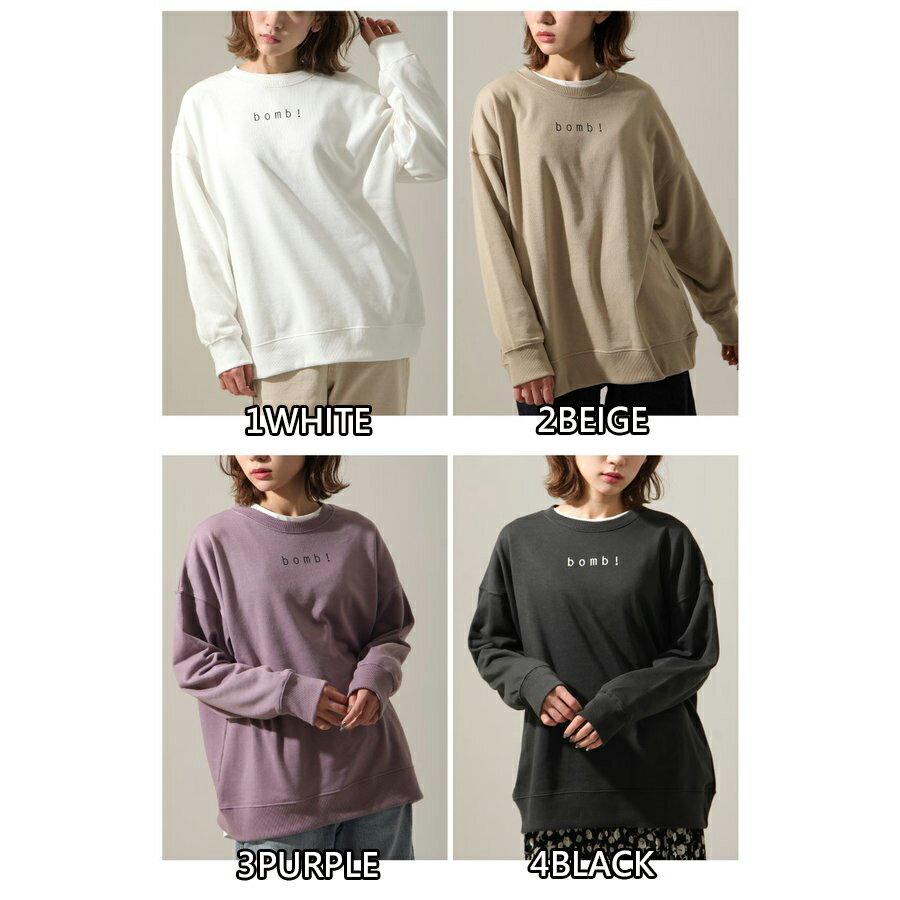 女裝 LOGO設計寬版運動衫 2
