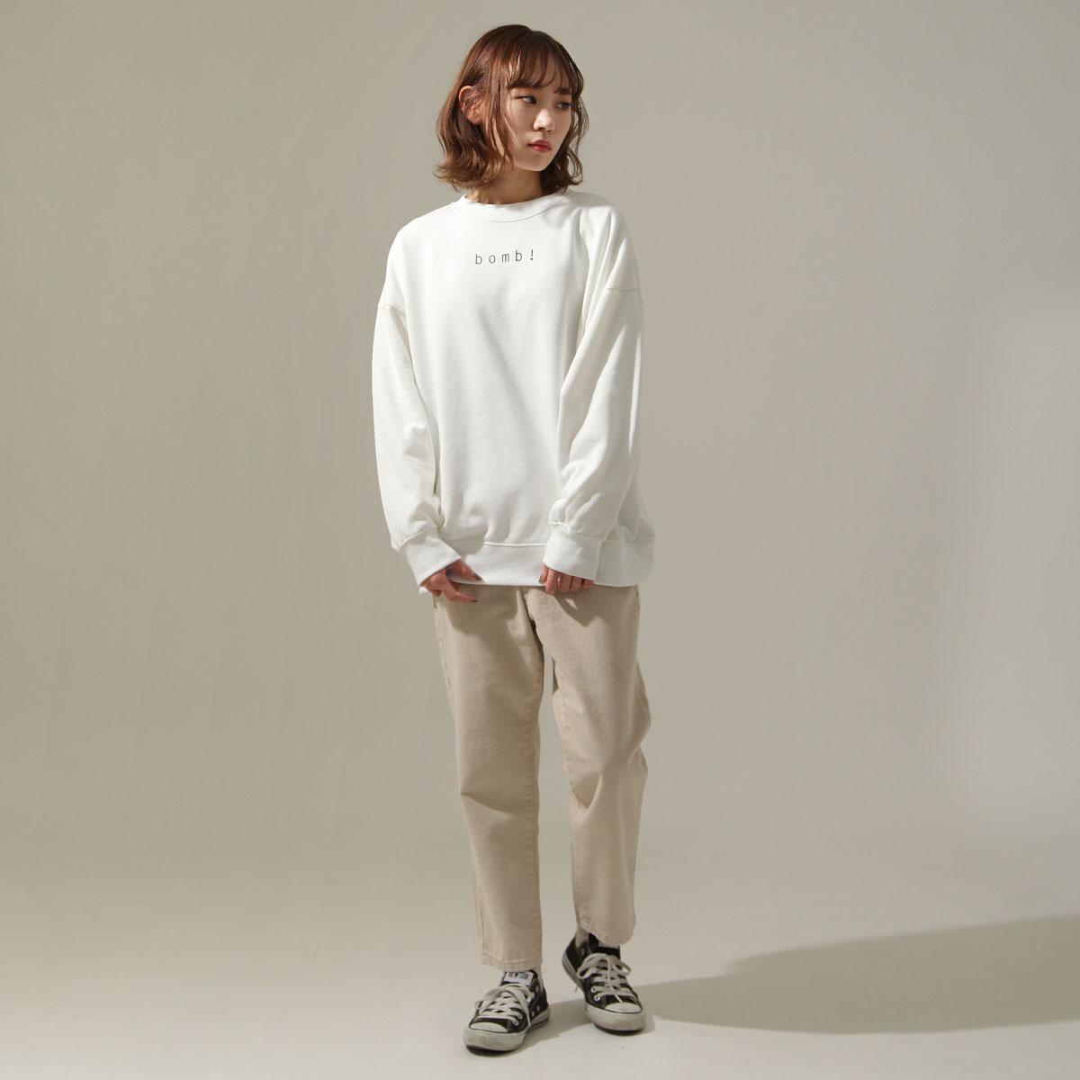 女裝 LOGO設計寬版運動衫 6