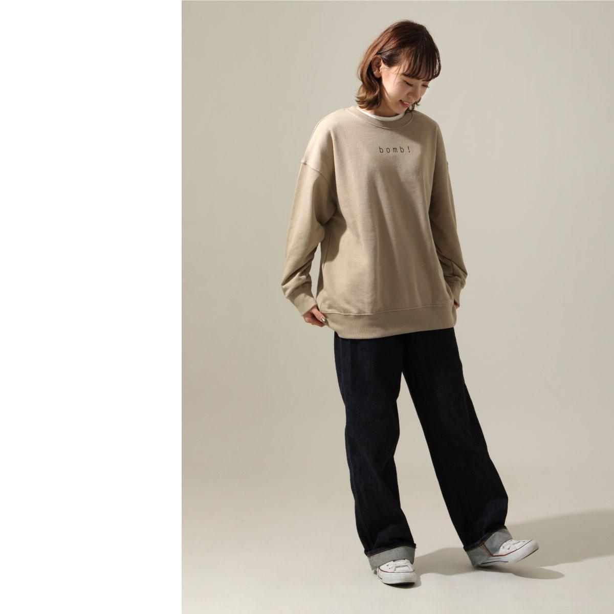 女裝 LOGO設計寬版運動衫 7