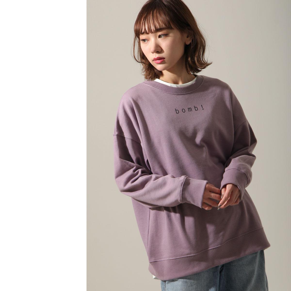 女裝 LOGO設計寬版運動衫 1