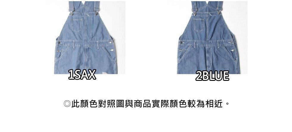 【New】ZIP 刷破丹寧吊帶褲 6