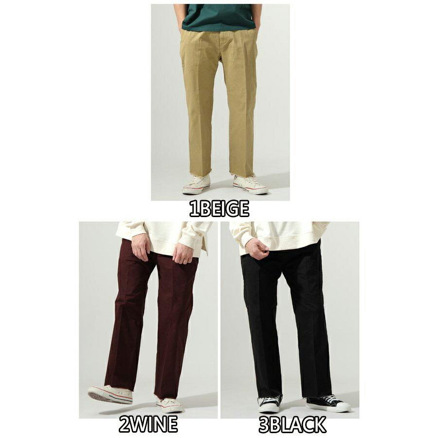 【New】ZIP 素色寬褲 立體折線 2
