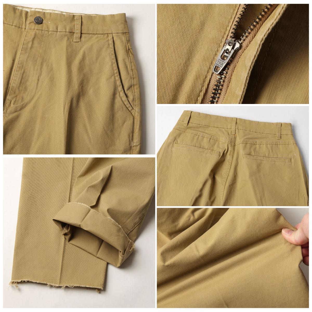 【New】ZIP 素色寬褲 立體折線 4