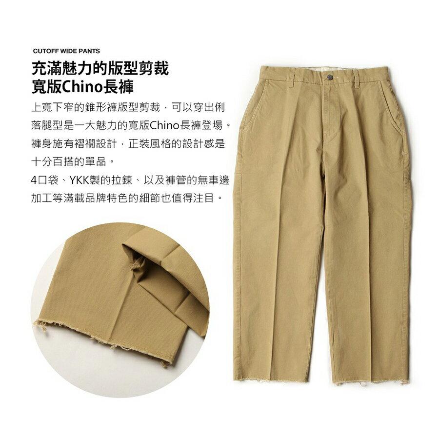 【New】ZIP 素色寬褲 立體折線 7