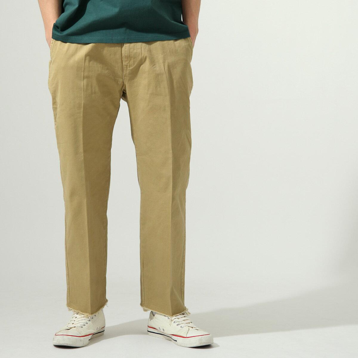 【New】ZIP 素色寬褲 立體折線 1