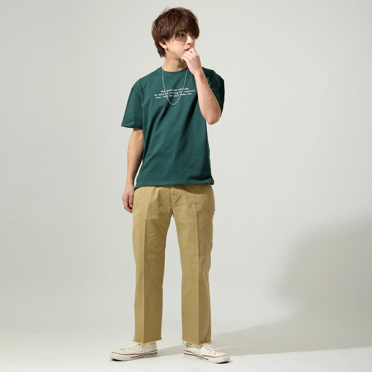 【New】ZIP 素色寬褲 立體折線 5