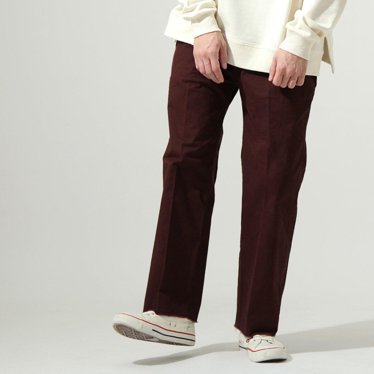 【New】ZIP 素色寬褲 立體折線 8