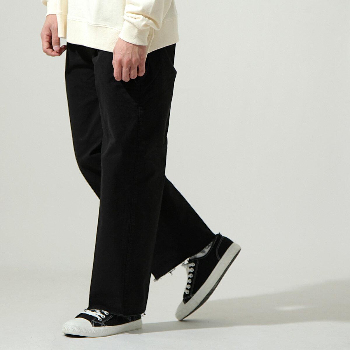 【New】ZIP 素色寬褲 立體折線 9