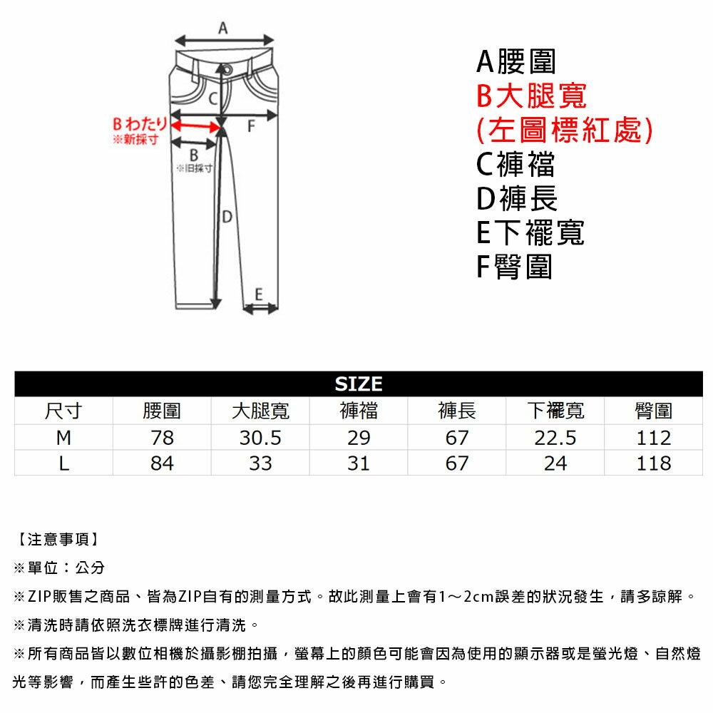 【New】ZIP 丹寧寬褲 立體折線 3