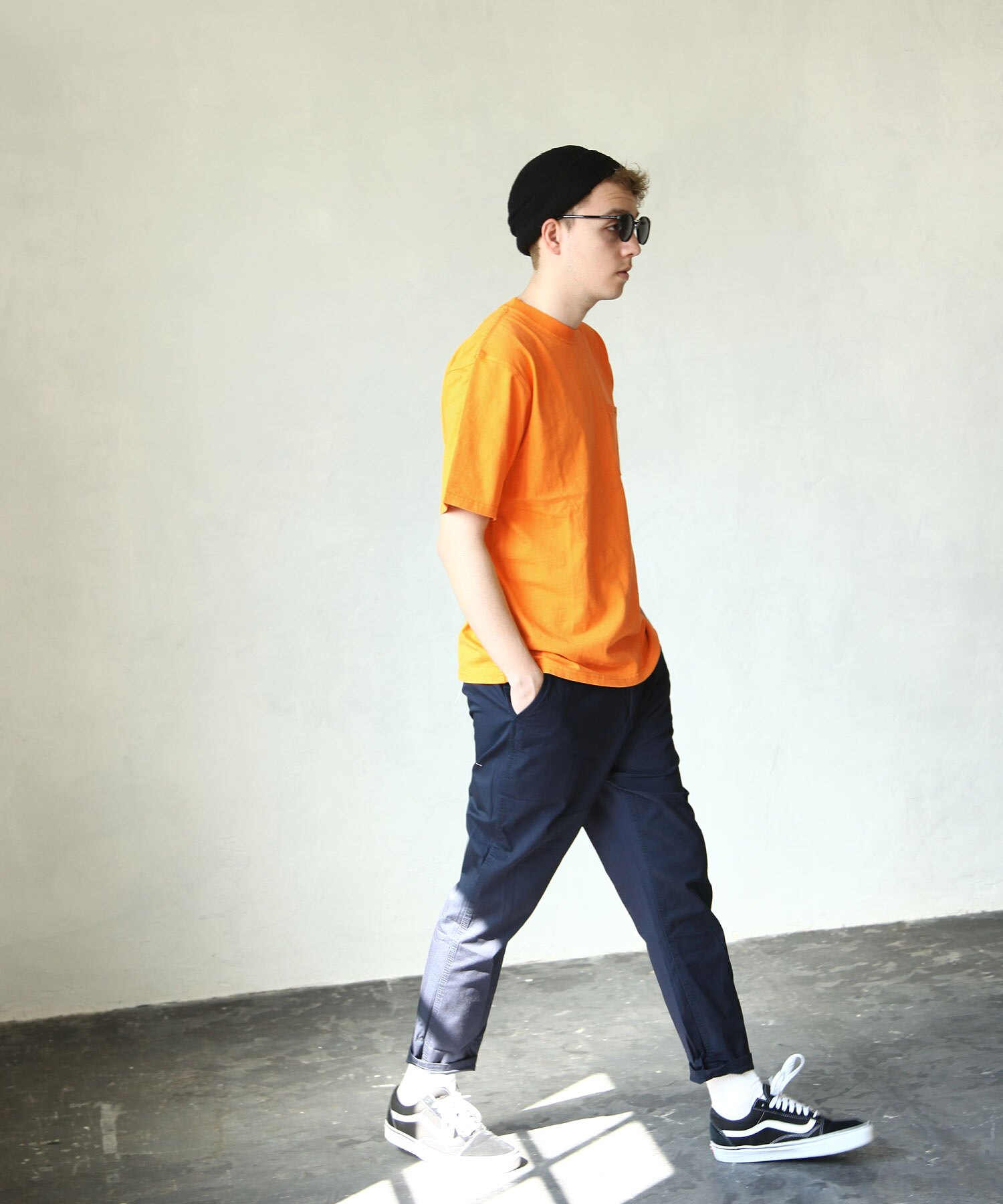 【Nilway x ROUND HOUSE】押釦口袋短TEE 8