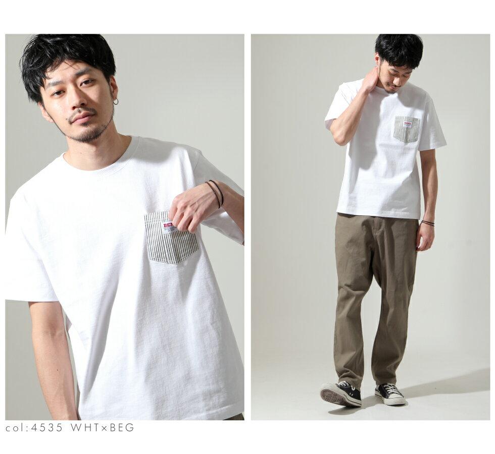 【BEN DAVIS】拼接LOGO口袋TEE 4