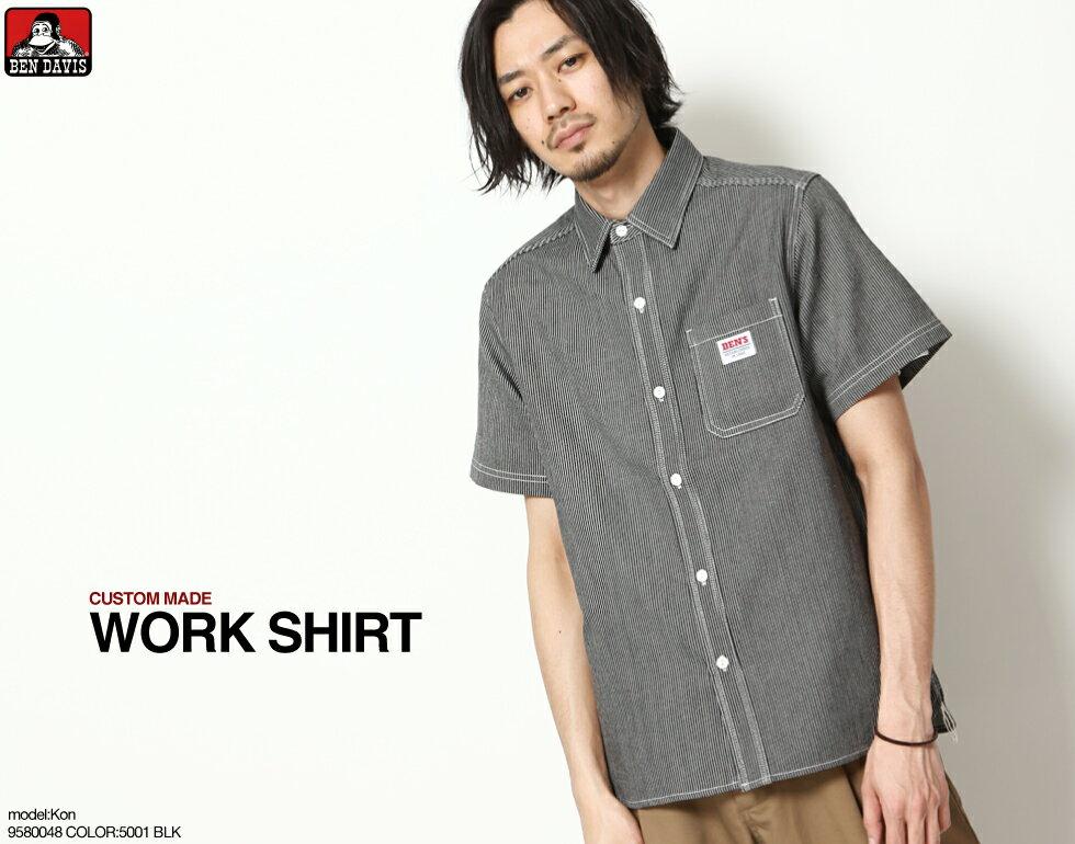 【BEN DAVIS】LOGO名牌刺繡工裝襯衫 短袖 0