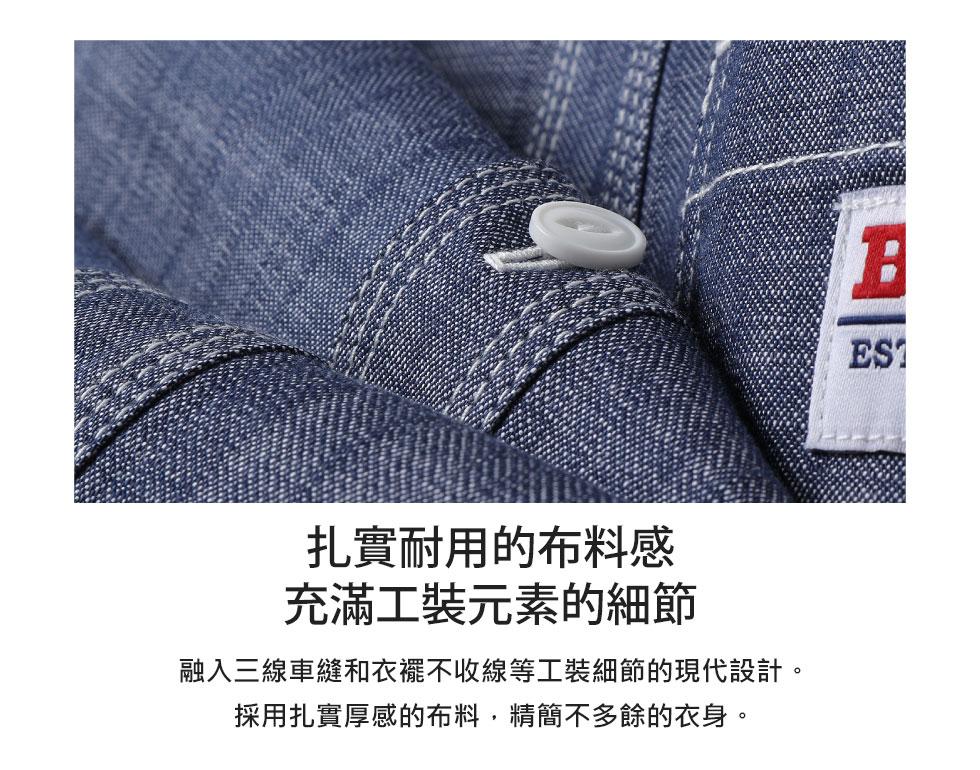 【BEN DAVIS】LOGO名牌刺繡工裝襯衫 短袖 4