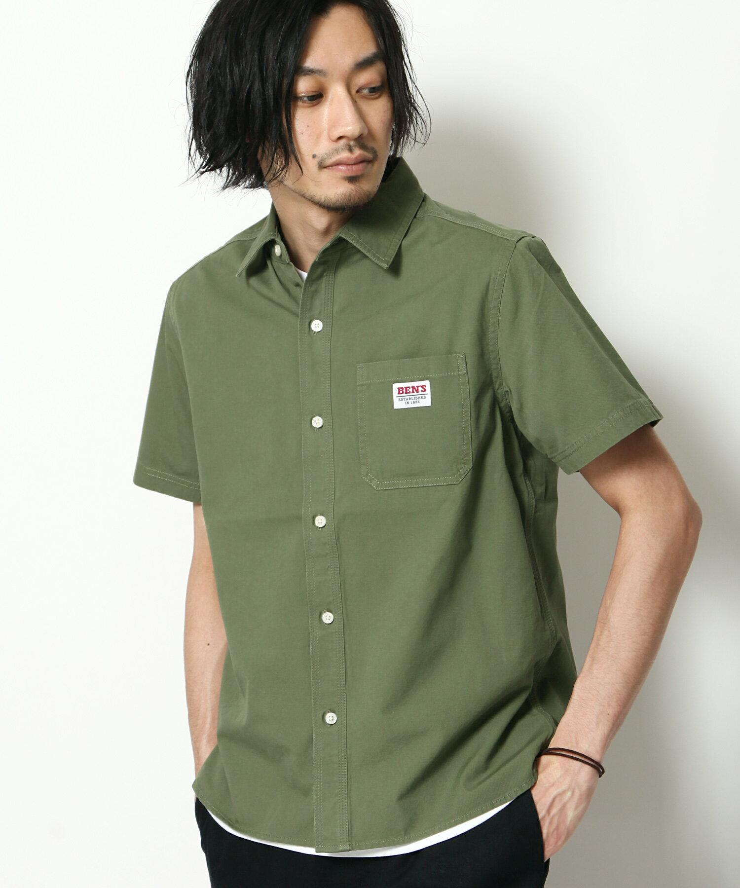 【BEN DAVIS】LOGO名牌刺繡工裝襯衫 短袖 5