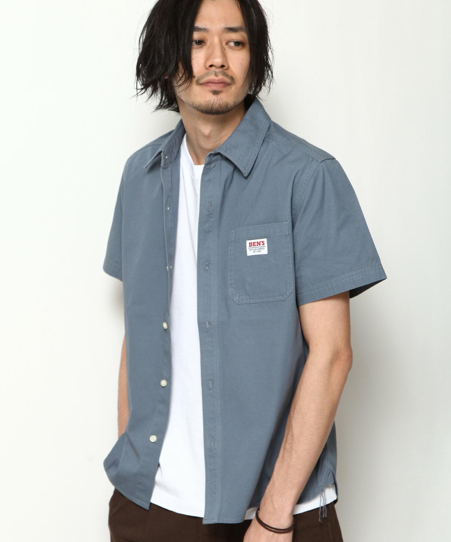 【BEN DAVIS】LOGO名牌刺繡工裝襯衫 短袖 7